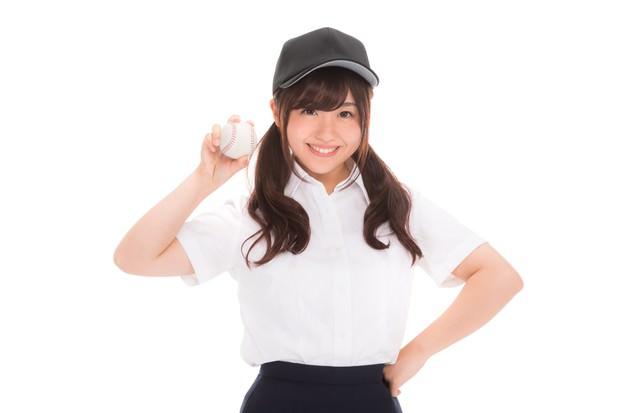 「野球部の女子マネージャーです!」のフリー写真素材