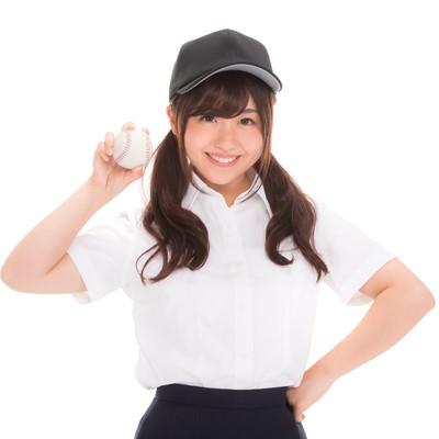 「野球部の女子マネージャーです!」の写真素材