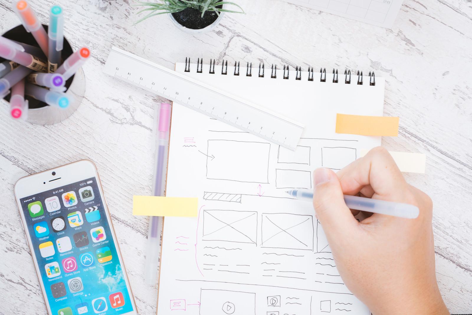 「Webサイトをデザイン中」の写真