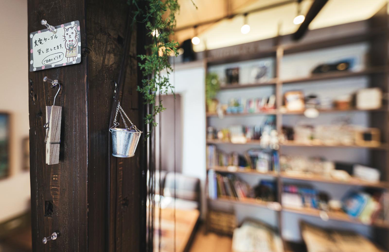 「カフェの柱」の写真