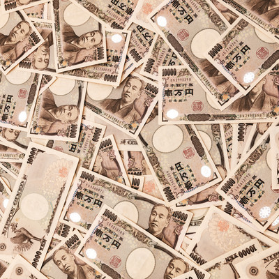 100万円相当の紙幣をばら撒くの写真