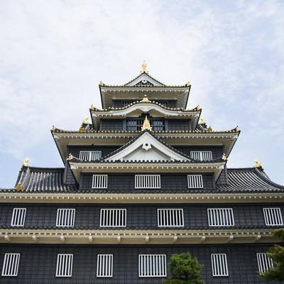 漆黒の城、岡山城の写真