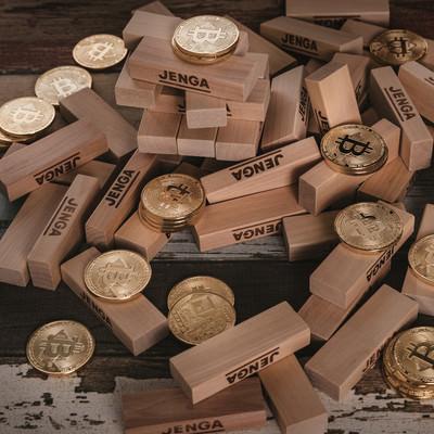 倒壊したビットコインの写真