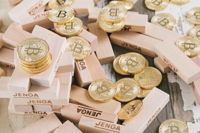 崩壊したビットコインの写真