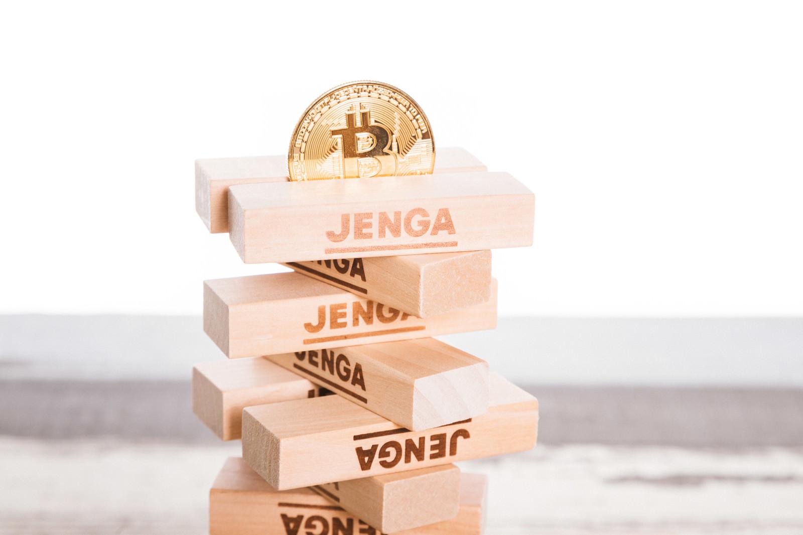 「ぐらつくビットコイン」の写真