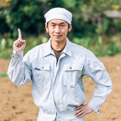 「農夫からのワンポイントアドバイス」の写真素材