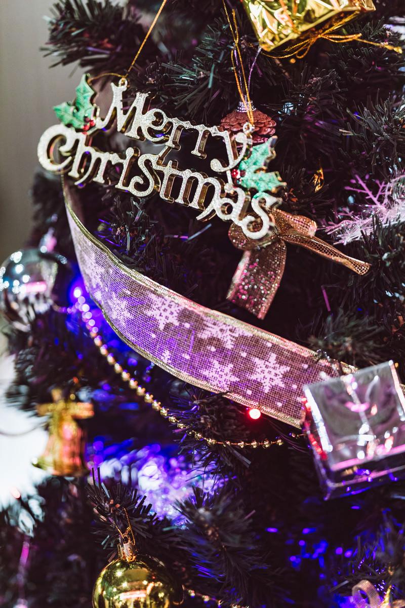 「クリスマスツリーの電飾」の写真