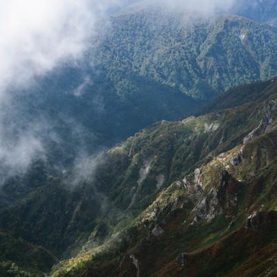谷川連峰の秋の写真