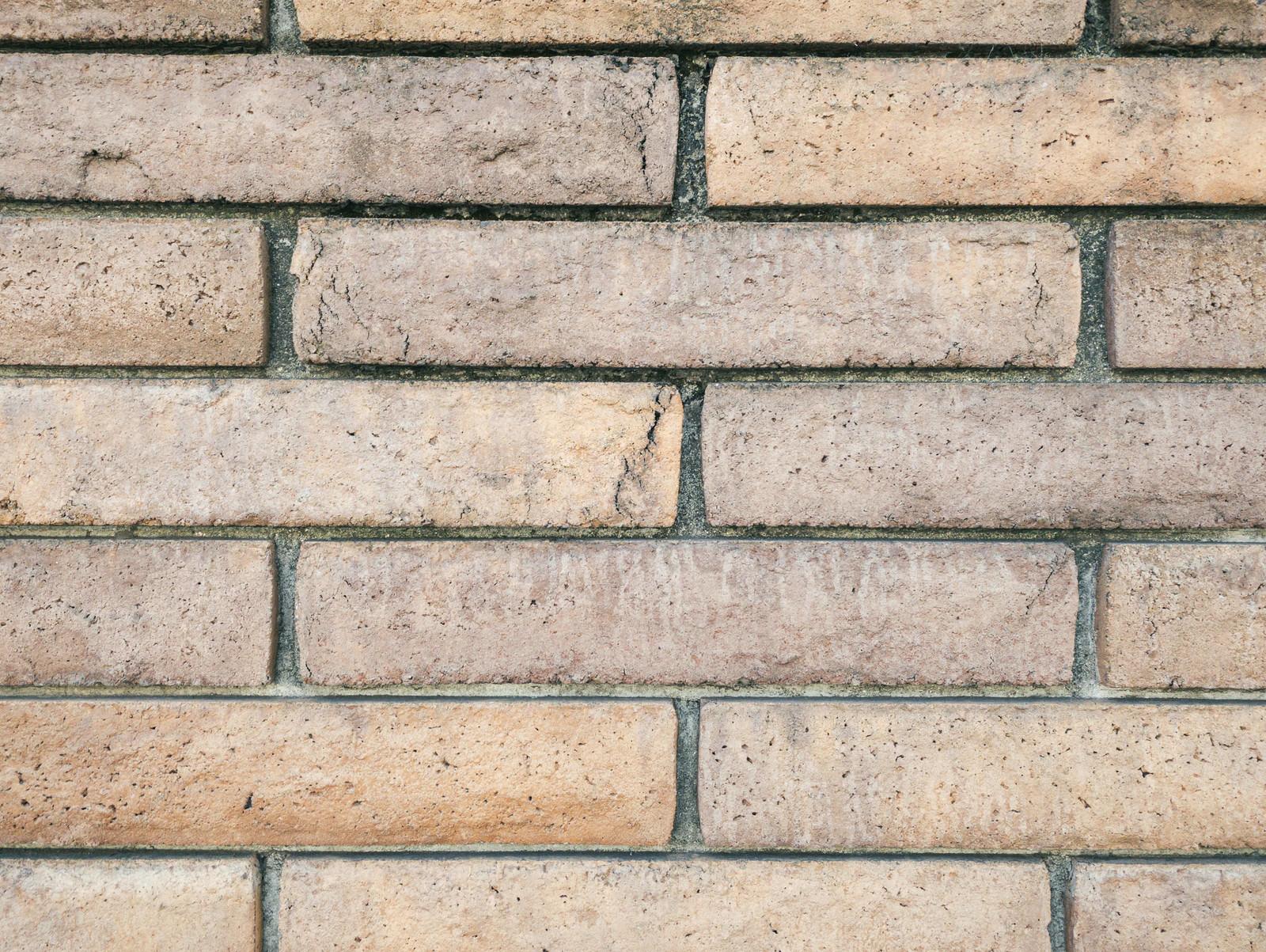 「どっしり質感のあるレンガ壁(テクスチャ)」の写真