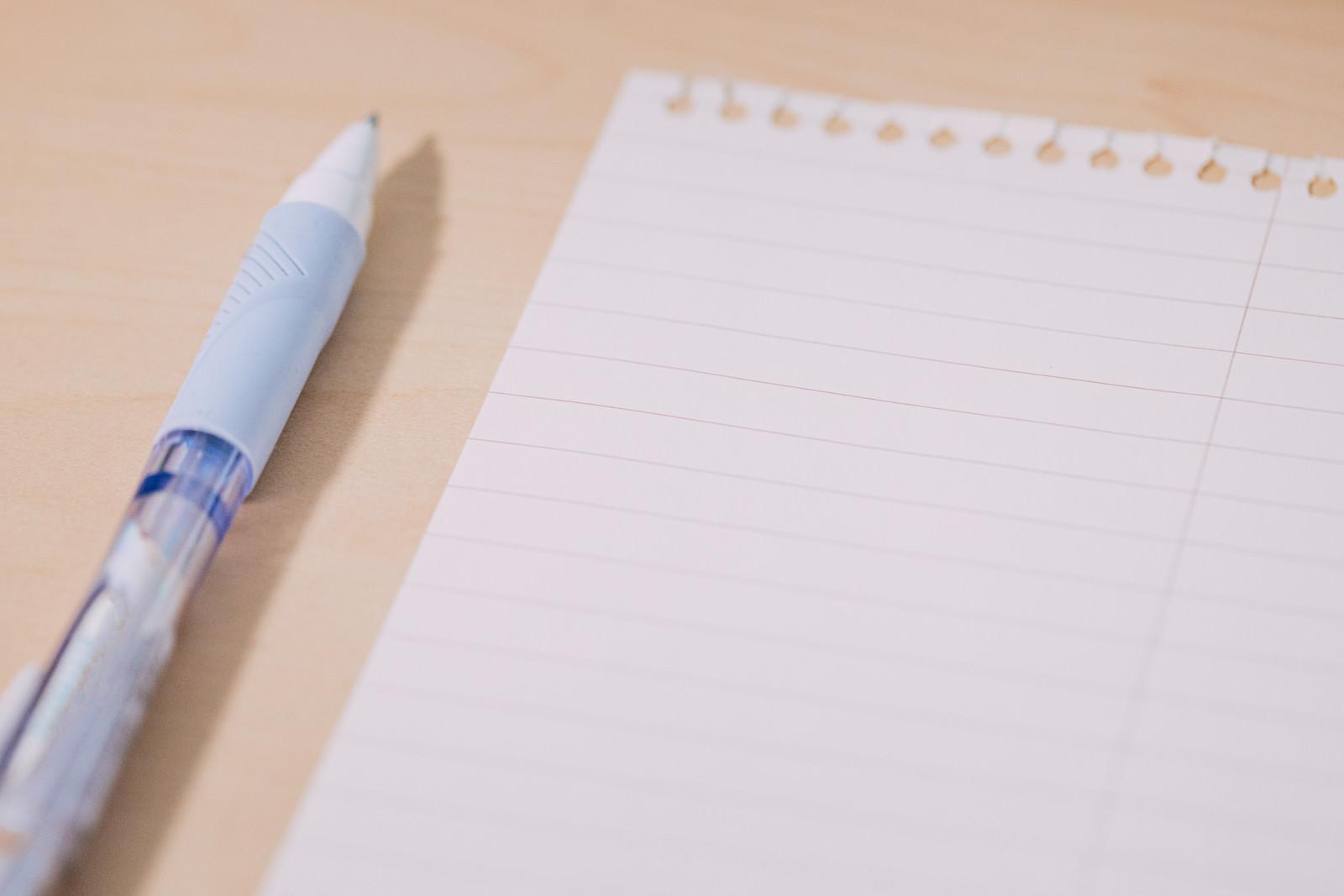 「書き置き用メモ帳とペン」の写真