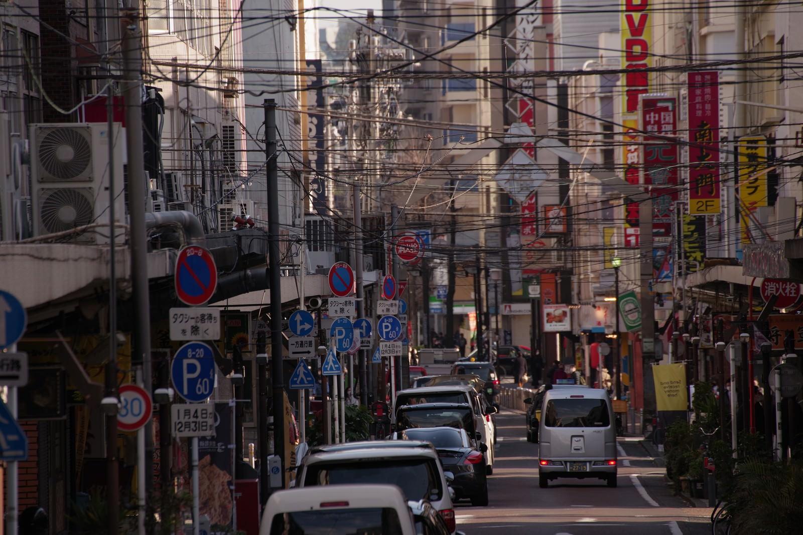 「横浜の福富町の通り」の写真
