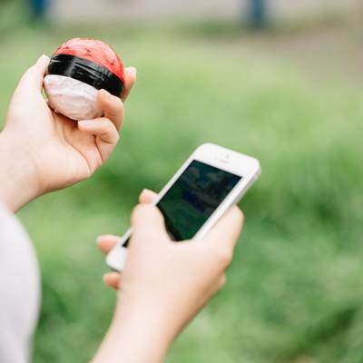 「直感を信じて紅白ボールで相棒を探す」の写真素材