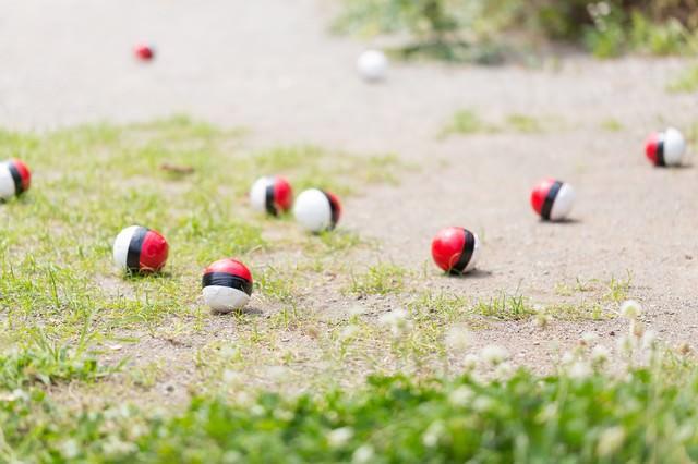 いつの間にか知らない紅白ボールが増えてくるの写真