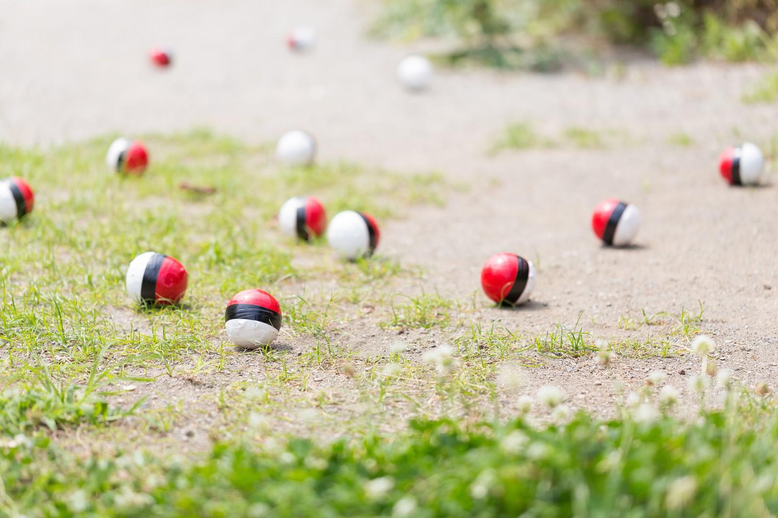「SNSに投稿され紅白ボールが増える」の写真