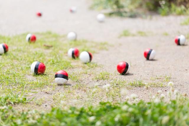 SNSに投稿され紅白ボールが増えるの写真