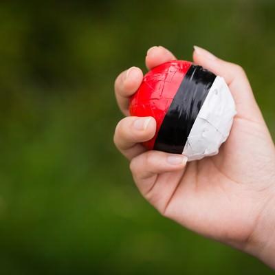 「まだまだ紅白ボールを握りしめる毎日」の写真素材