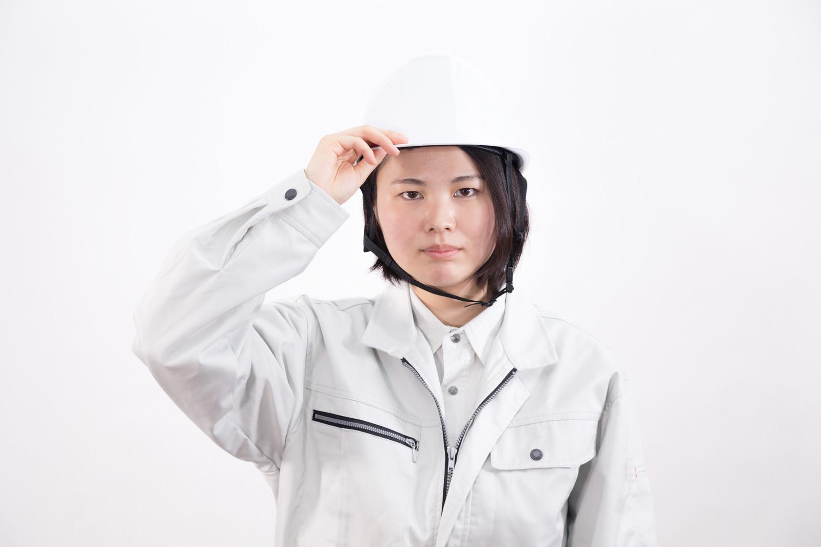 「頭部を守るヘルメット」の写真[モデル:佐竹PP]