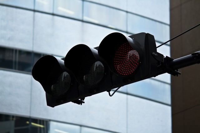 LEDの赤信号の写真