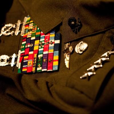「軍服と階級章」の写真素材