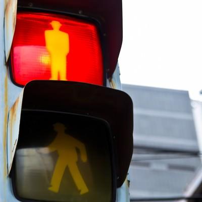 「歩行者用信号機」の写真素材