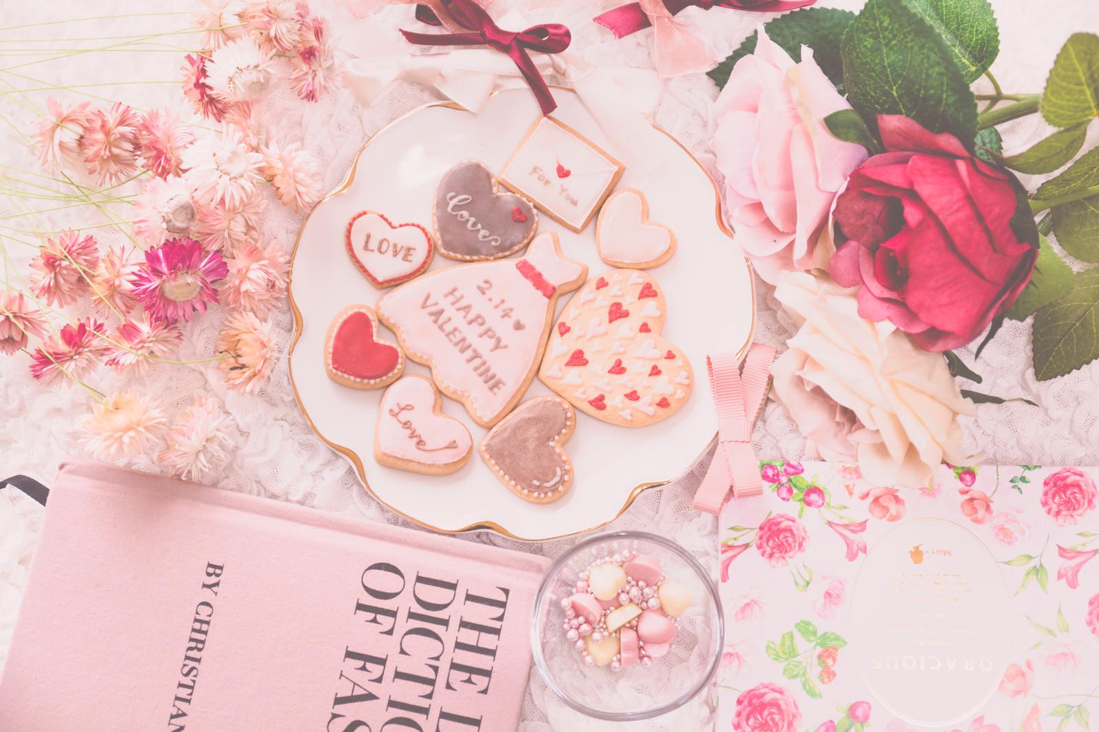 「バレンタインクッキー」の写真