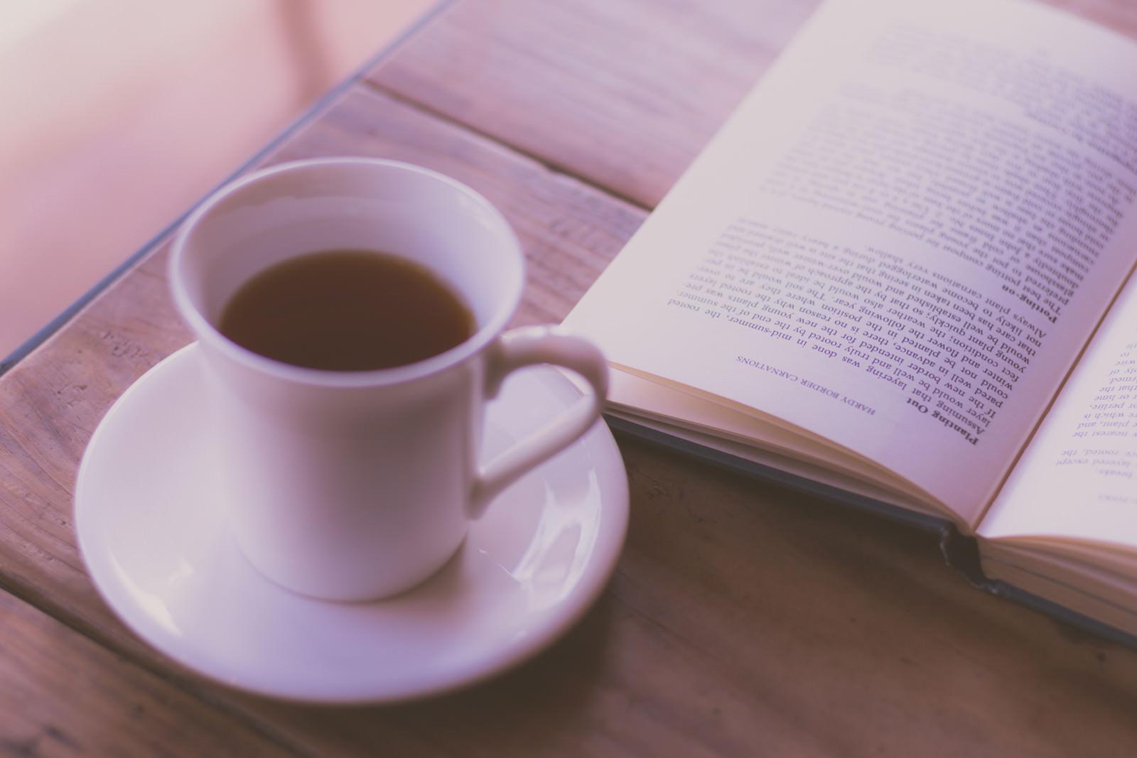 「コーヒーと洋書」の写真