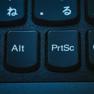 PrtSc(プリントスクリーンボタン)の写真