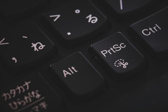 画面キャプチャができるボタンの写真
