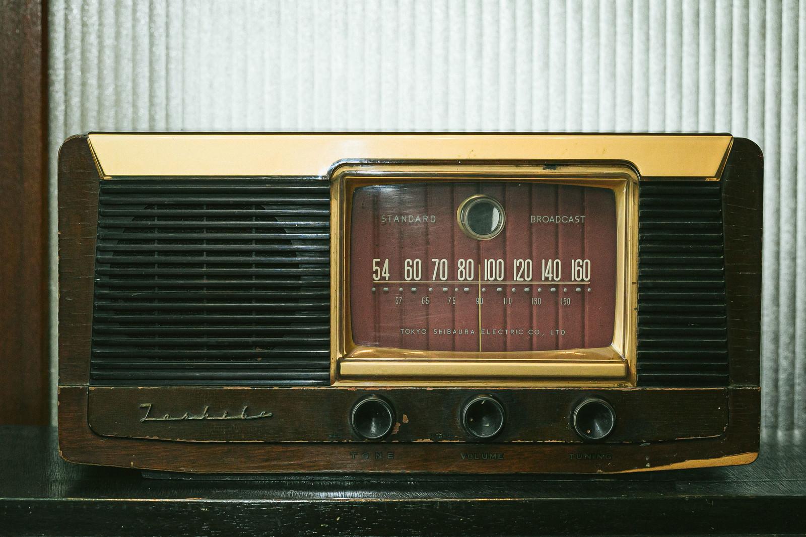 「古いレトロラジオ」の写真