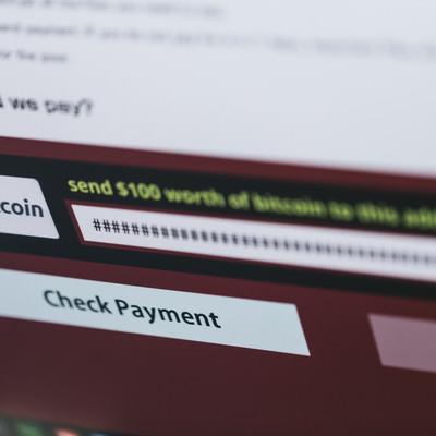 ランサムウェアに表示された身代金請求(bitcoin)の写真