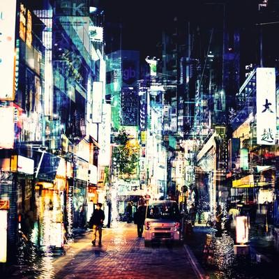 「神田の夜(飲み屋街)」の写真素材
