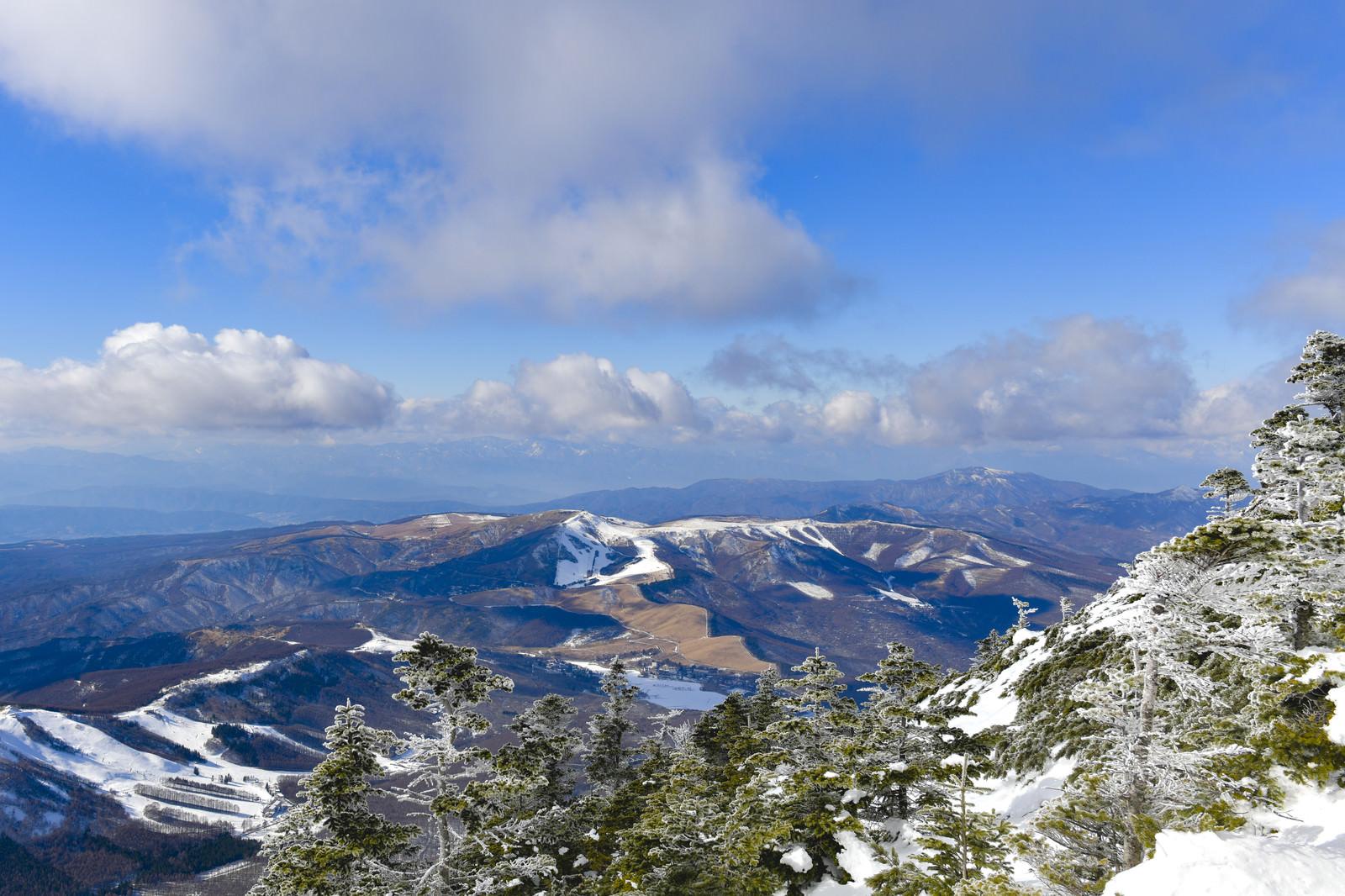 「蓼科山から見える霧ヶ峰と美ヶ原方面」の写真