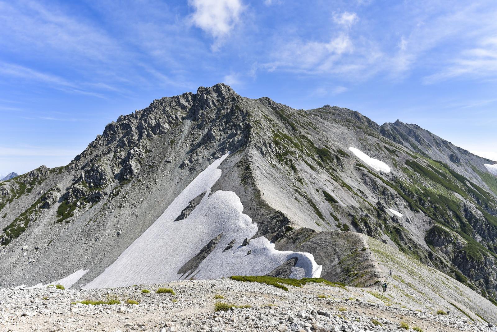 「別山方面から見る立山雄山方面」の写真