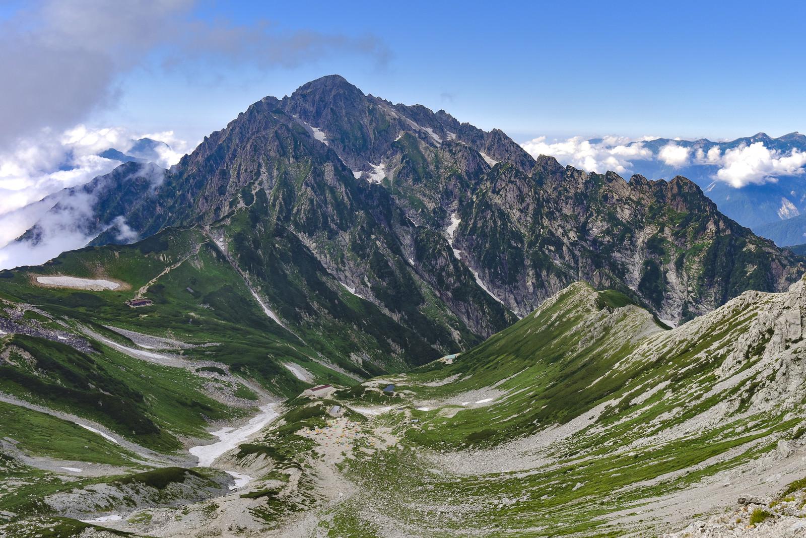 「劔沢のカールと剱岳(立山)」の写真