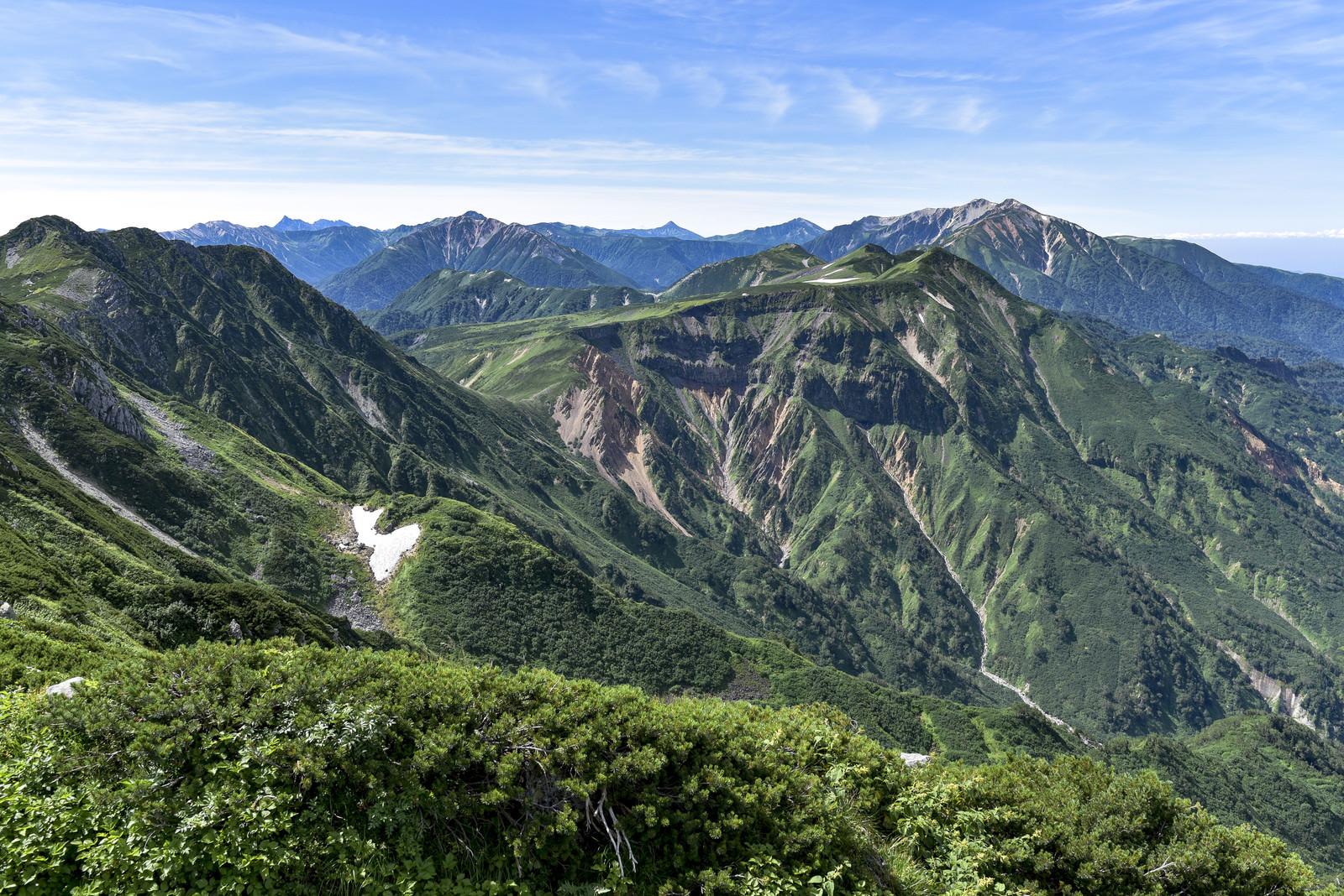 「立山カルデラザラ峠方面」の写真