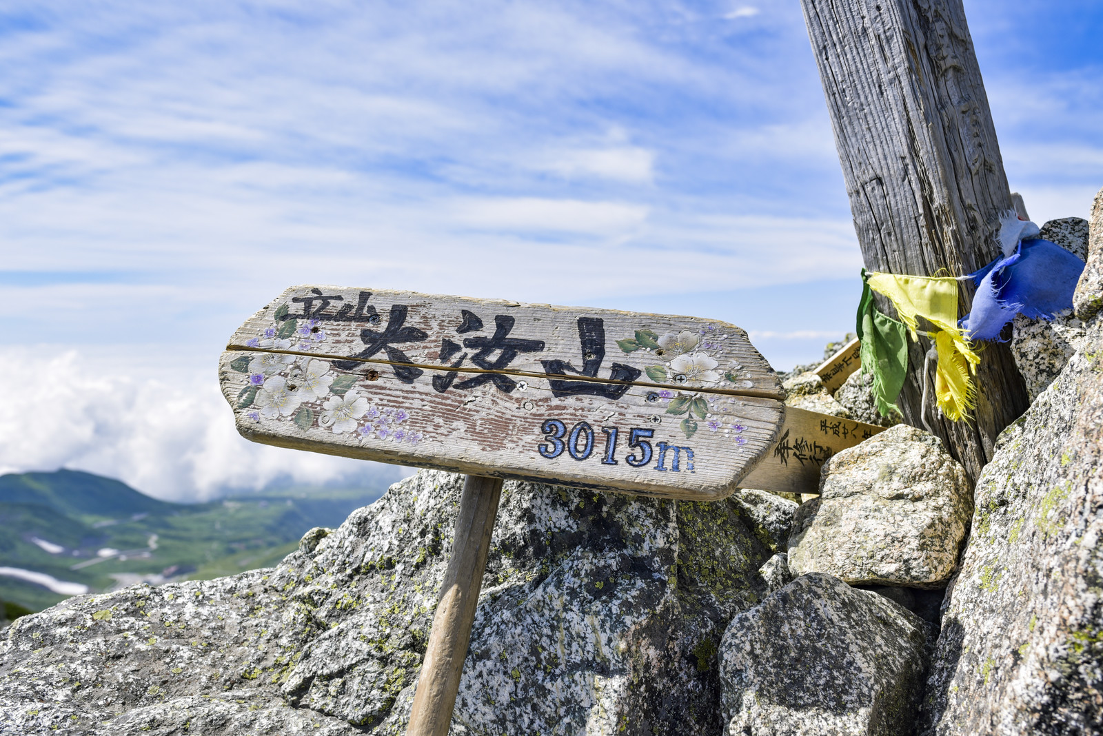 「立山大汝山山頂」の写真