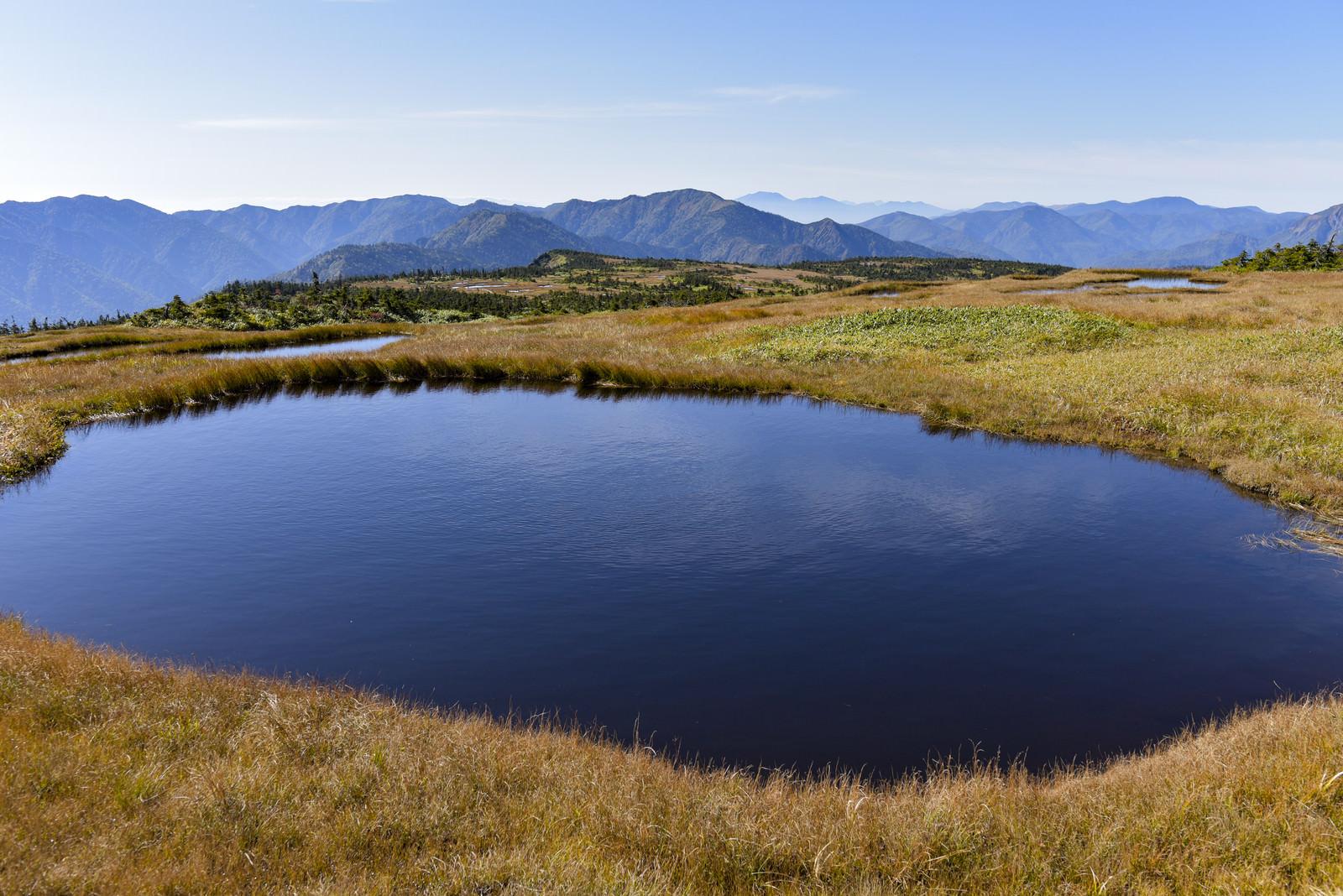 「苗場山山頂の巨大な池塘」の写真