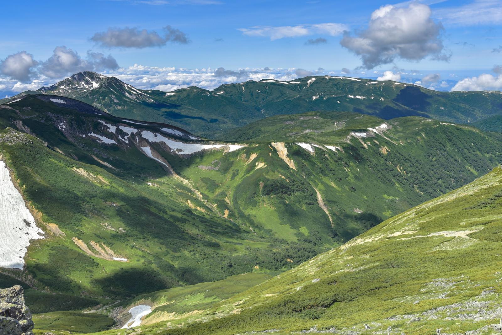 「水晶岳側から見る雲ノ平」の写真