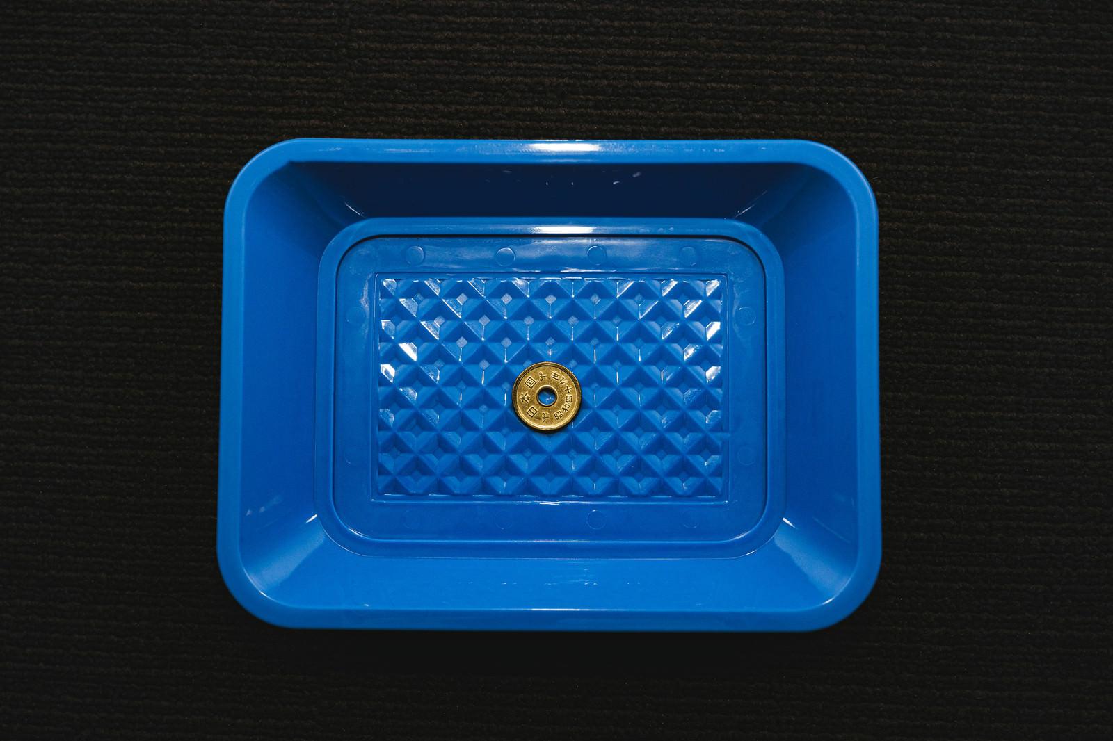 「トレーに5円玉」の写真