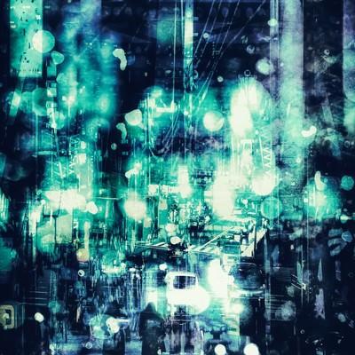 「冬の街。(フォトモンタージュ)」の写真素材