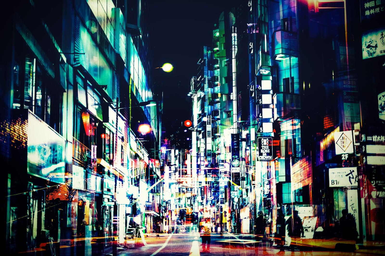 「神田の夜(フォトモンタージュ)」の写真