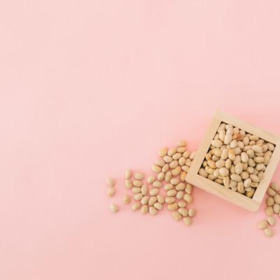 「枡に入った節分用の豆」の写真素材