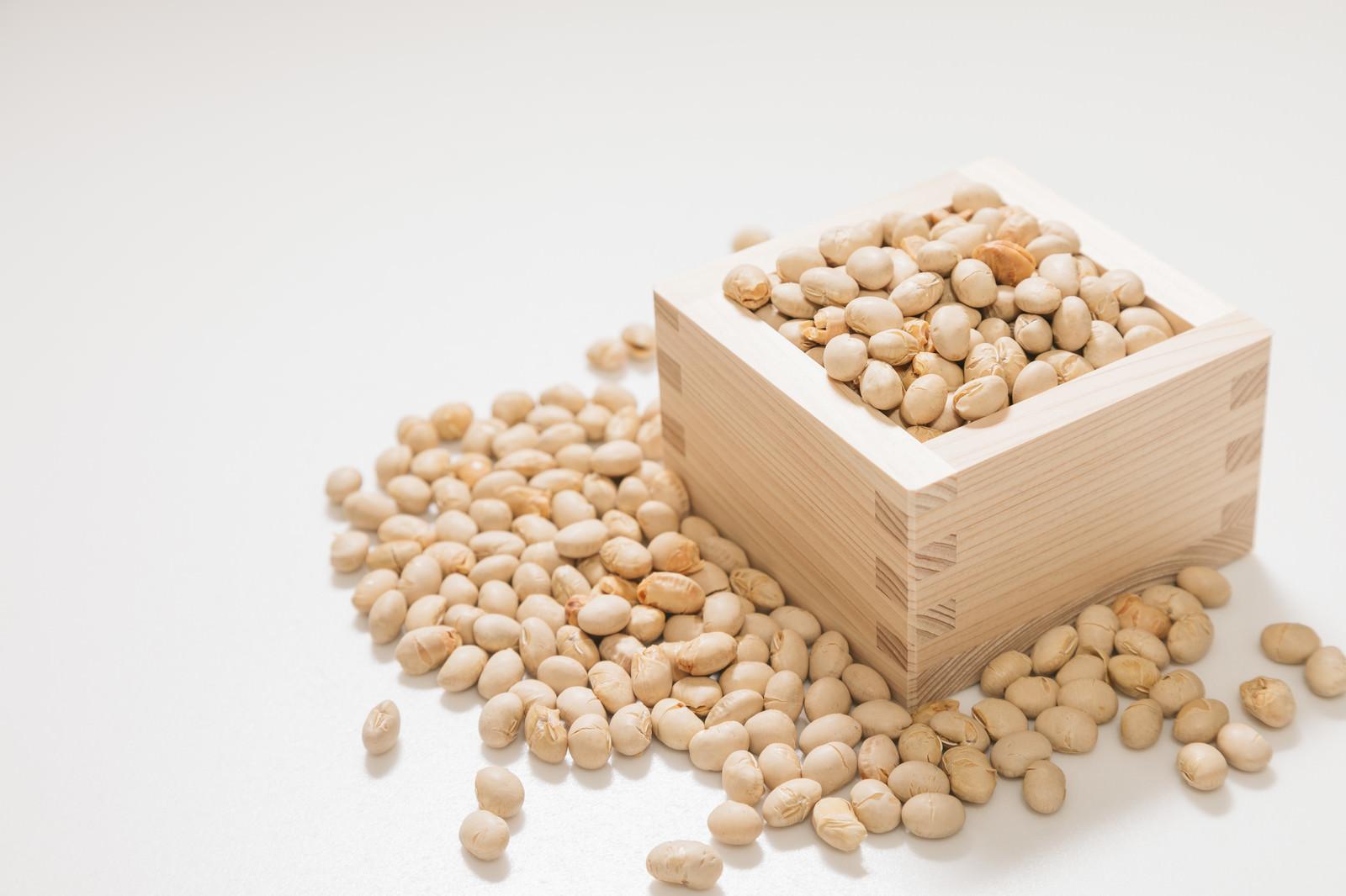 「枡と節分豆」の写真