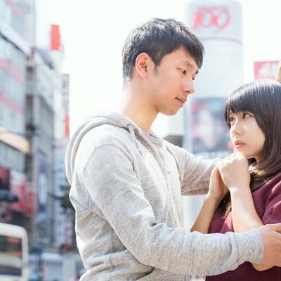 「「キミとボクの交差点。恋はスクランブルさ」とドヤる渋谷系」の写真素材