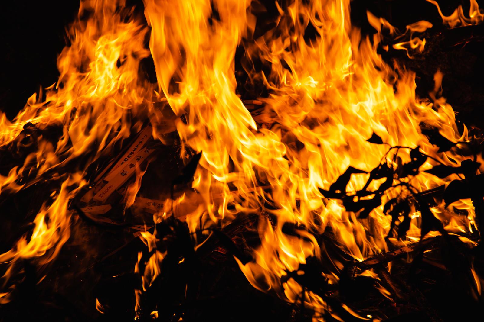 「外護摩の炎と揺らぎ」の写真