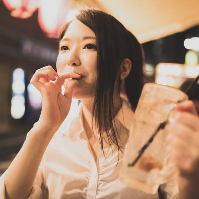 お通しの枝豆サイコーの写真