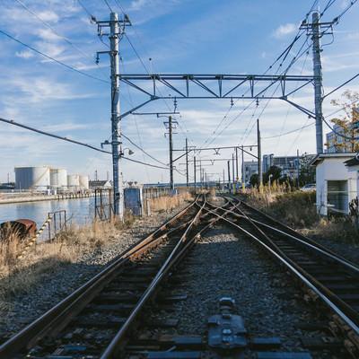 新芝浦駅の線路の写真