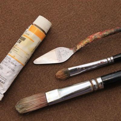 画材道具の写真