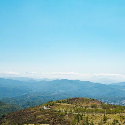「白根山からの景観」の写真素材