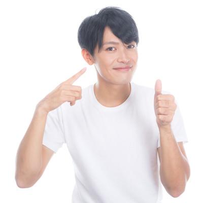 健康的な生活で肌の調子がいい男性の写真